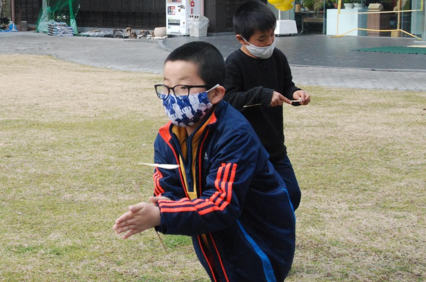 竹トンボづくり・遊び